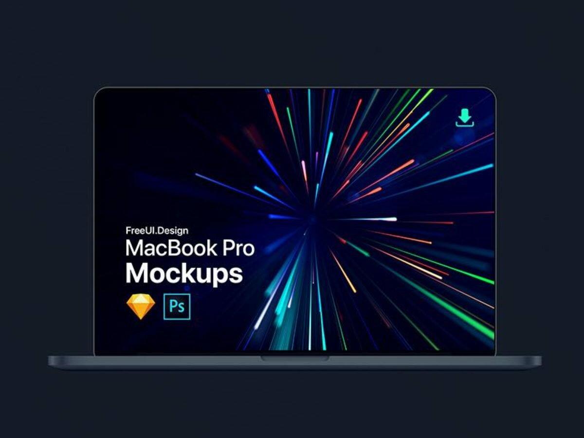 The New MacBook Pro Mockup | Freebies | Photoshop + Sketch App
